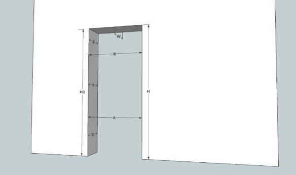 Comment prendre les mesures pour un bloc porte for Dimension standard porte interieur